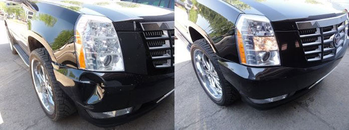Bezinwazyjne usuwanie wgnieceń w samochodzie